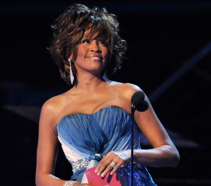 Whitney Houston at Grammy Awards 2009