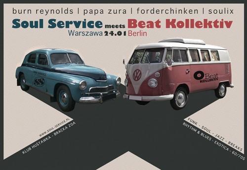 Soul Service meets Beat Kollektiv 24.01 Klub Huśtawka