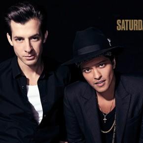 Mark Ronson i Bruno Mars w Saturday Night Live