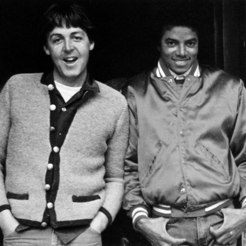 Photo of Michael JACKSON and Paul McCARTNEY